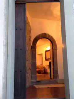 Main doorway, through hallway and living room