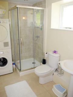 Downstairs shower, laundry and cloakroom