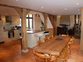 The Hay Barn.  3 en-suite bedrooms.  Wood burne and optional Italian evening.