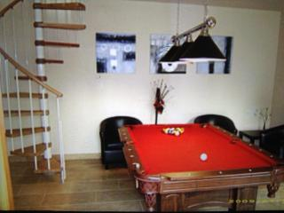 Games Room with Full Sized Pool Table, IPod Docking Station.