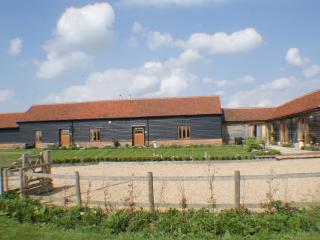 Front of Jepcrack's Barn comprising of the Hay Barn (left), Barley Barn (middle) & Cart Lod