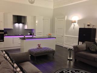 Luxury designer fully equipped kitchen with M+S pans,crockery, kitchen untensils,M+S coffee machine