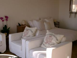 Comfy chairs.  European kingsize bed (160cm).