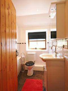 Main bathroom at village cottage