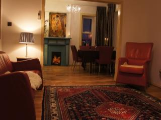 Lounge and dining room Kilda House, Visit Scotland graded 4 star luxury accommodation, a cosy house