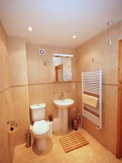 Ensuite wet room at rural village cottage