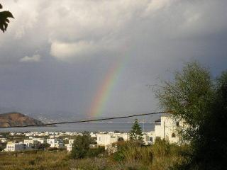 rainbow view from terrace