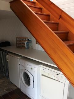 Utility Area at Bottom of Stairs (freezer, washing machine & tumble dryer)