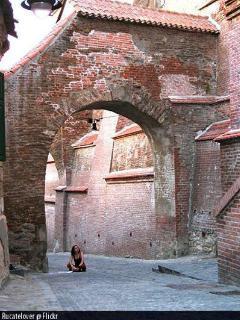 Sibiu, defense wall at the edge of the Old Town - Transylvania, Romania