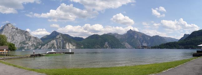 Traunsee is only a short cycle ride in Summer