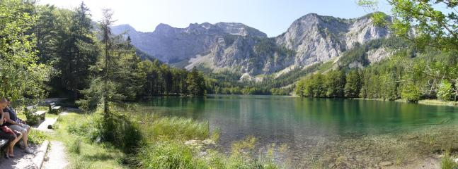 Langbathsee is a short drive or an hour on a bike ride