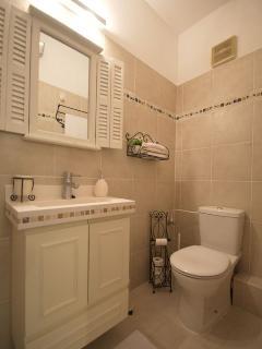 The designed bathroom