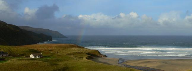 Lag na Mara, Uig, looking out over Cliff Beach. A vista of rainbows and where Eagles soar.