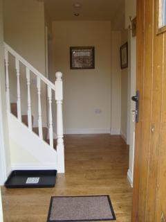 The spacious and elegant entrance hallway, plenty of room to hang coats & take off walking boots