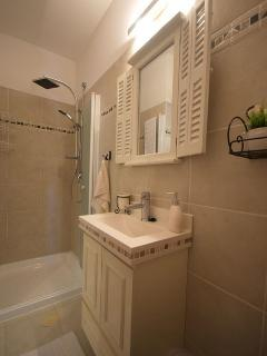 The designed bathroom