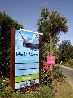 White Acres main entrance