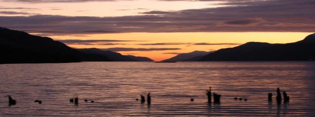 sunset loch ness