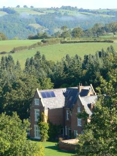 View of Fronfraith Hall from Hill Behind in Late Summer