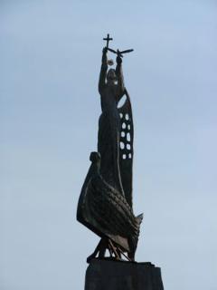 Statue celebrating Nessebar's history.