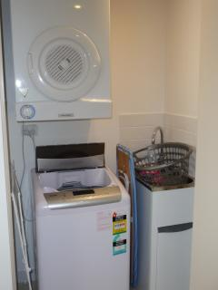 Laundry facilities in the apartment