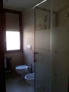 very brigth marble bathroom
