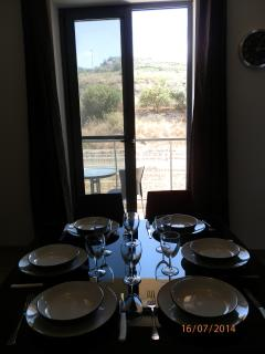 Dining table with view