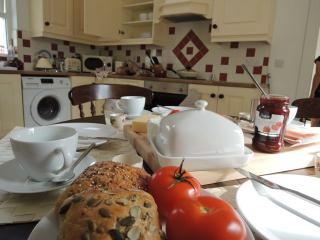 Breakfast in a cosy kitchen