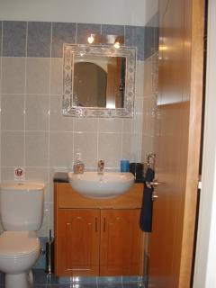 BATHROOM WITH BATH AND OVERHEAD SHOWER
