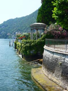 The historic lake front in beautiful Moltrasio