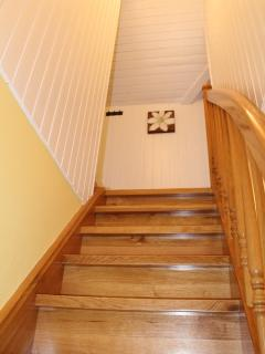 going up to both bedrooms