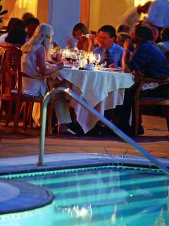 Pool side dining