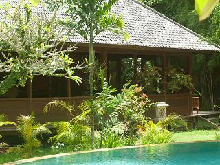 Traditional Balinese large garden pavilion measures 27 ft. x 21 ft.