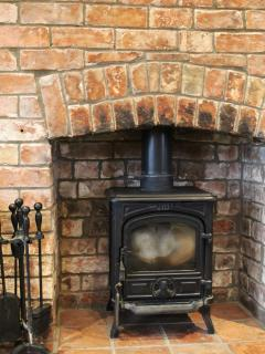Warming wood burner during the winter months