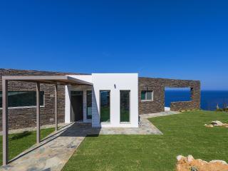 Luxury seafront villa near Chania in Crete, Greece. entrance