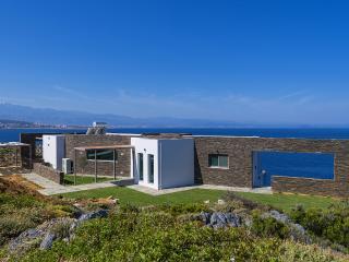 Luxury seafront villa near Chania in Crete, Greece. seaview