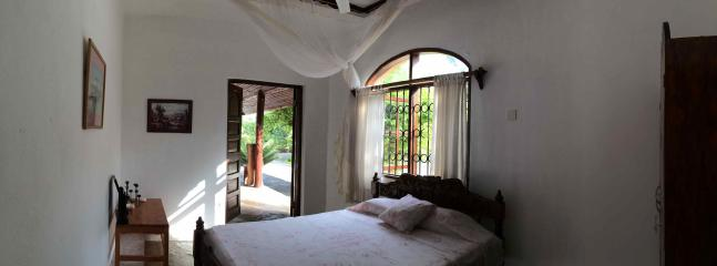 The Baobab bedroom has an en-suite bathroom; this room has direct access to the beach.
