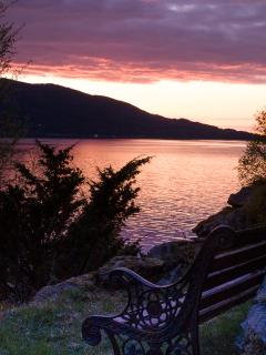 A nook in Smedsvik's garden to contemplate, enjoy a drink or just unwind.