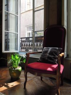 Comfortable chair by the window