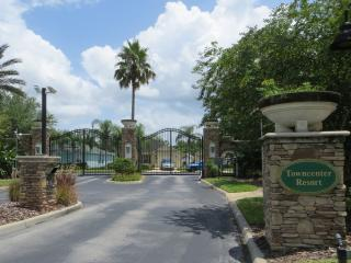 Grand entrance into the gated estate