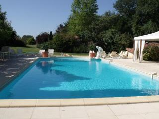 Large heated and private swimming pool