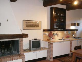 a warm fireplace