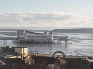 View of the Newly Refurbished Grand Pier from Your Lounge Window - Shame the Sea Wasnt In!!!