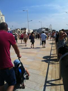 Weston Sea front on a busy summers day - loads to see and do for all ages
