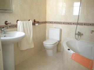 Lovely corner bath, with shower and wc