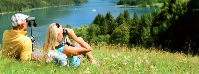 Wunderschöne Aussichten von der Alm auf der Millstätter See