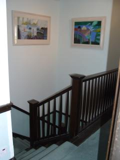 Stairs from landing