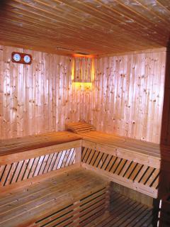 The sauna of the villa