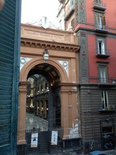 View from our balcony: 'Galleria Principe di Napoli'