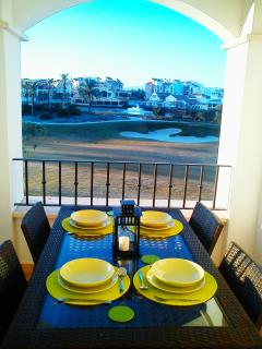 Beautiful views from the balcony dining area over looking La Torre golf resort & Spa