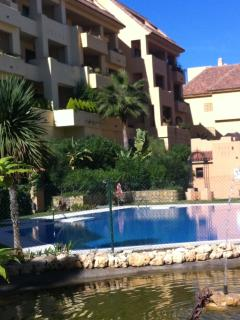 The apartments in the village overlook swimming pools (one of 5 shown)
